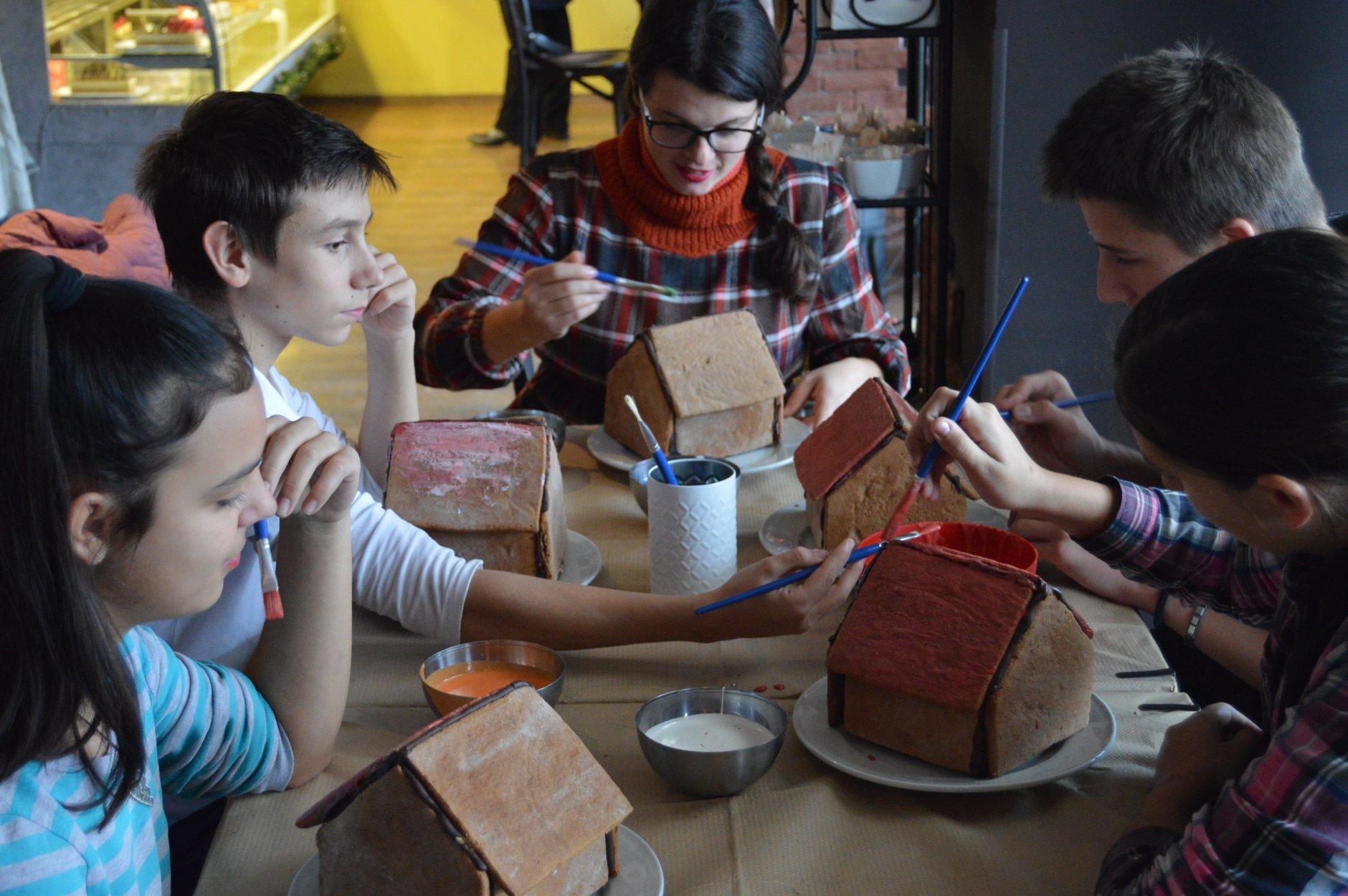 Проект Среќа на новогодишна работилница во Пастел
